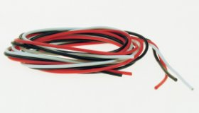 SILICONE WIRE 24SWG (WHITE/BLK/RED) 1MT