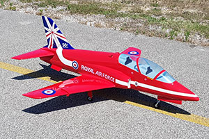 Mini BAe HAWK - EDF 90mm 6S or Turbine RED ARROWS - Click Image to Close